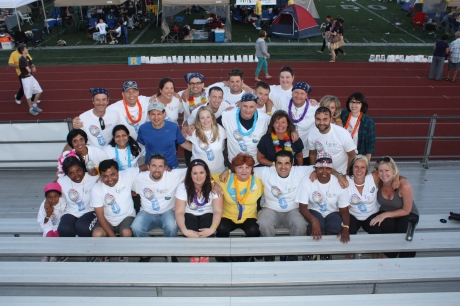 The team from Crawford at Relay For Life in North York!